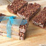 No Bake Chewy Cocoa Granola Bars {Refined Sugar, Gluten & Nut Free}