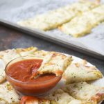 Grain Free Low Carb Cheesy Cauliflower Bread Sticks
