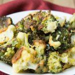 Oven Fried Parmesan Broccoli & Cauliflower Florets