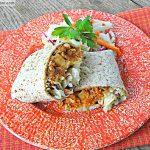 BBQ Chicken Cheddar Burritos with Mayo Free Slaw
