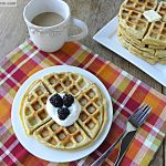 Homemade Whole Wheat Buttermilk Waffles {No Sugar Added}