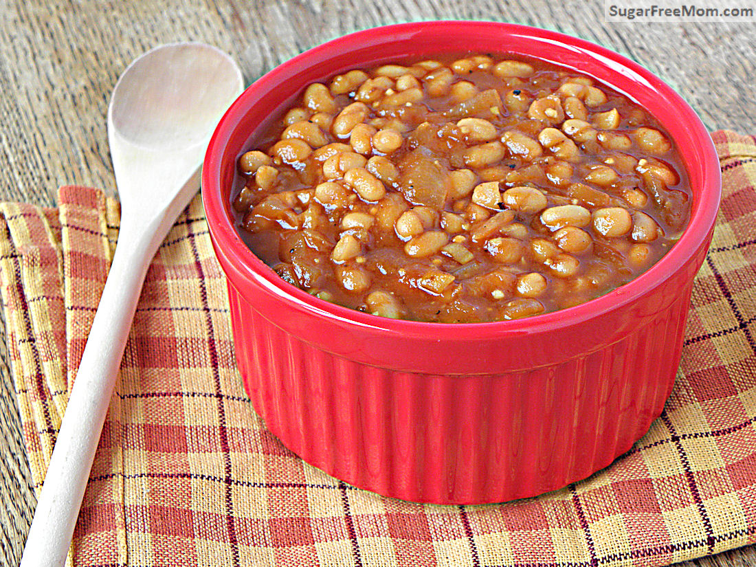 Crock Pot Baked Beans {Refined Sugar Free}