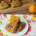 Orange Chocolate Chip Whole Wheat Scones {No Sugar Added}