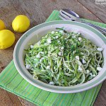 Fresh Zucchini Salad with Lemon Vinaigrette