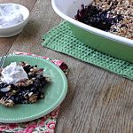 Healthy Whole Wheat Blueberry Crisp