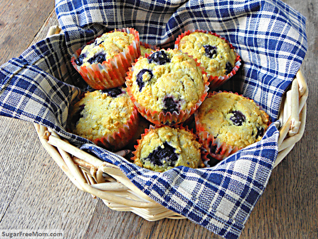 Blueberry Buttermilk Corn Muffins are gluten free and have no sugar ...