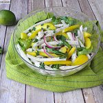 Jicama Arugula Herb Salad with Lime Vinaigrette
