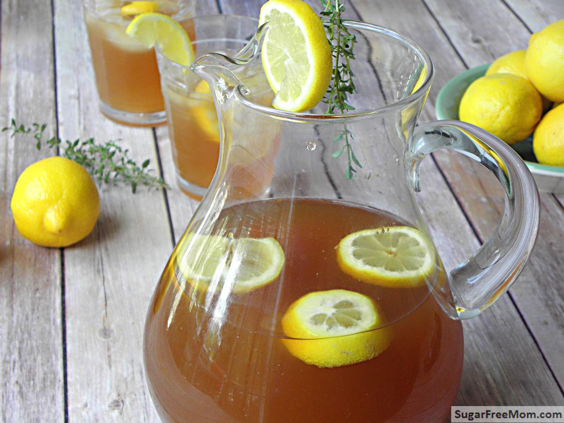 sugar free lemon thyme iced tea