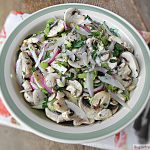 Raw Mushroom Salad with Lemon Vinaigrette