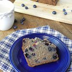 Gluten Free Blueberry Banana Bread {No Sugar Added}