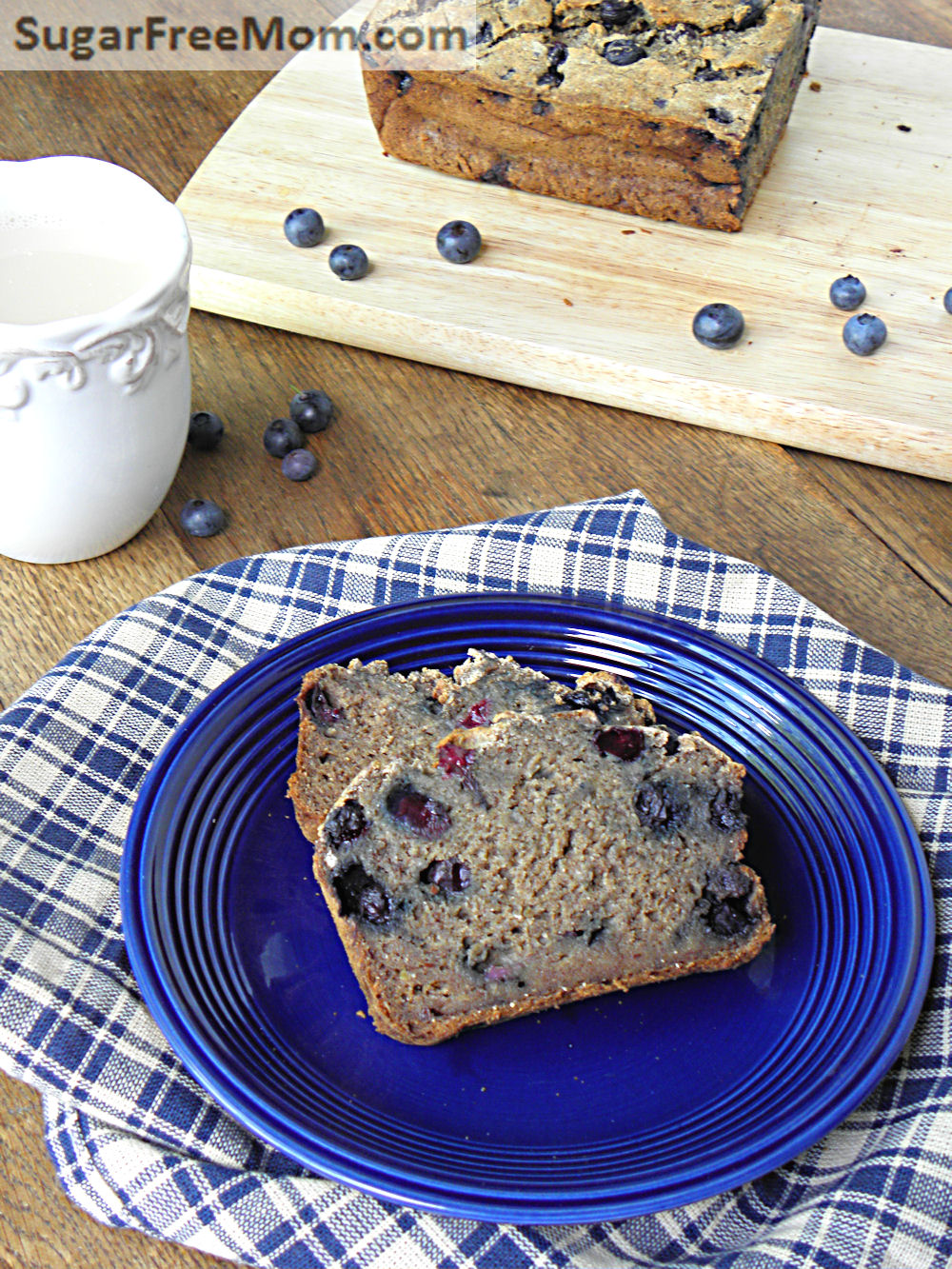 Gluten free blueberry banana bread no sugar added everyone forumfinder Images