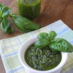 Nut Free Basil Parsley Pesto and Zucchini Noodles