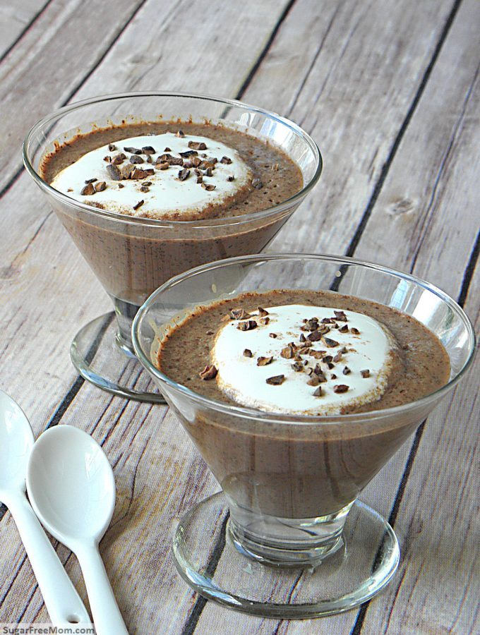 Sugar-Free Low Carb Chocolate Chia Pudding {Dairy & Gluten Free}