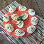 Lightened Up Mayo Free Deviled Eggs