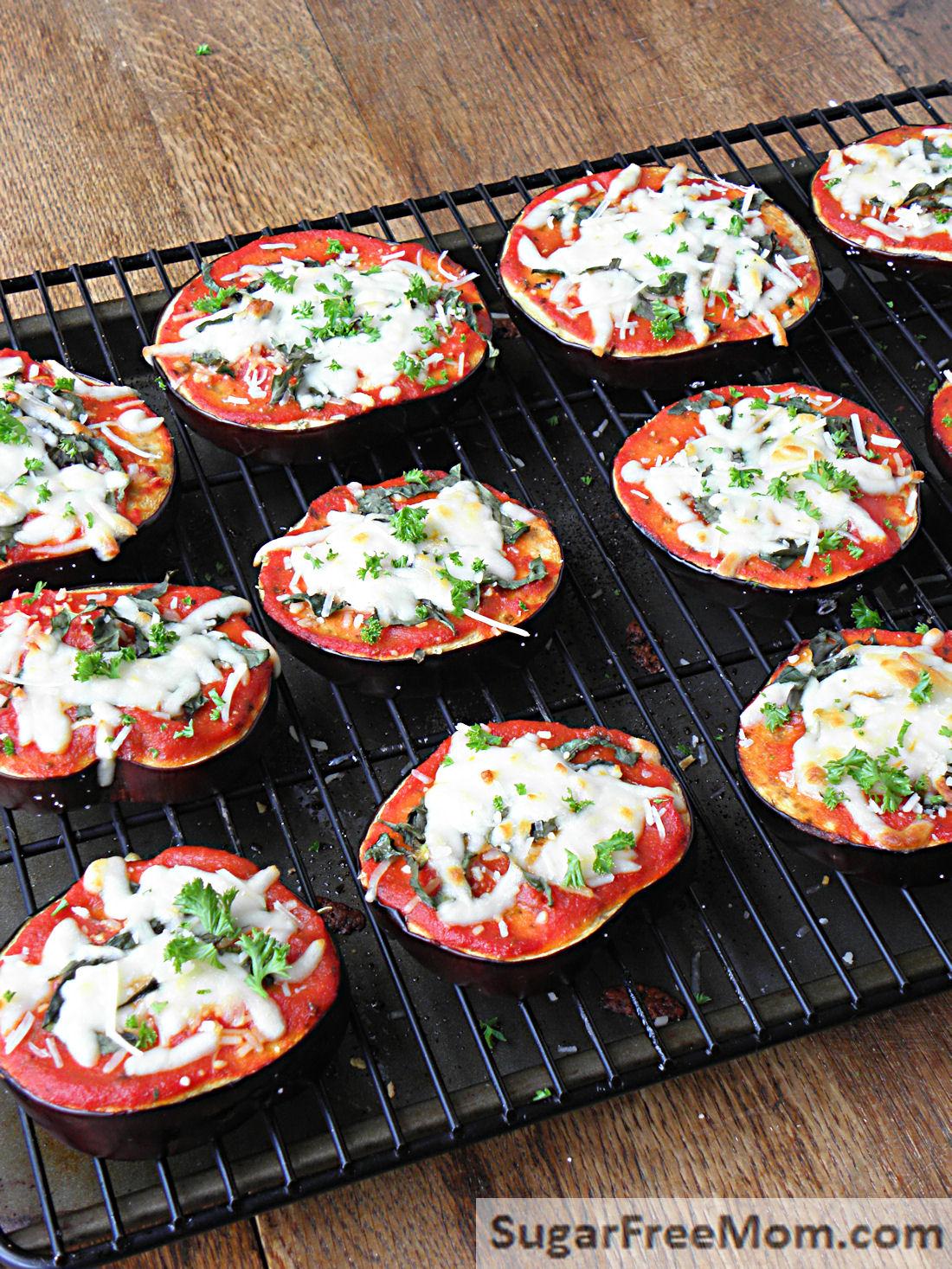 Low Carb Eggplant Pizzas