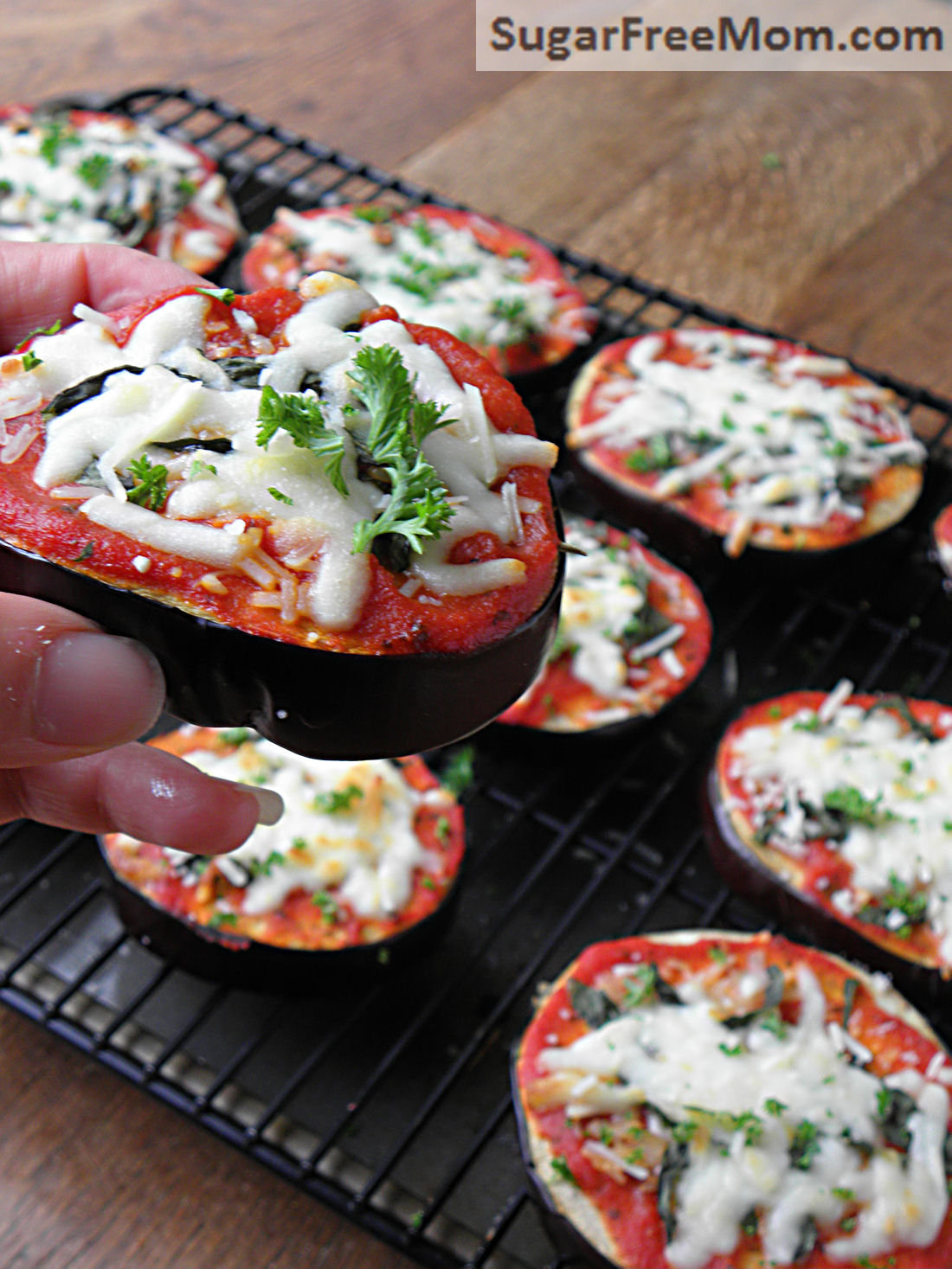 Low Carb Eggplant Pizzas