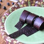 Homemade Naturally Sweetened Blueberry Fruit Roll-Ups