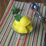 Dairy Free Mango Sorbet {No Sugar Added}