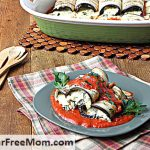 Baked Stuffed 3 Cheese Eggplant Roll Ups