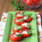 Baked Cheesy Tomato Basil Cups