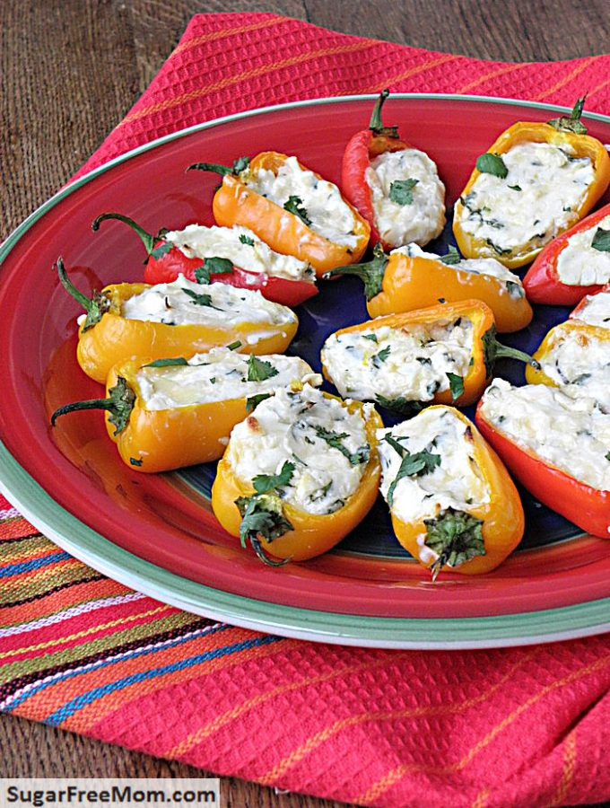 Low Carb Keto Cheesy Sweet Pepper Poppers
