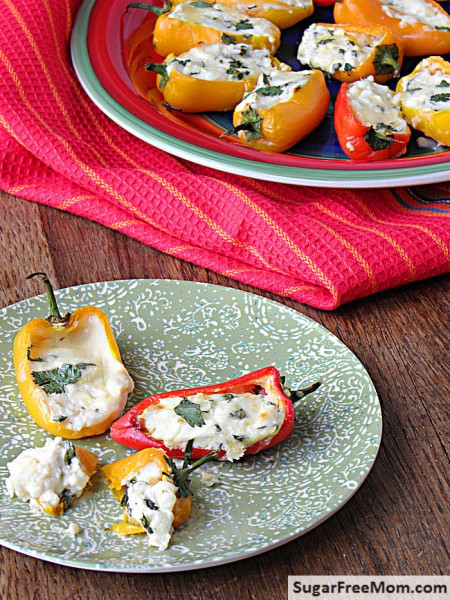 low carb sweet pepper poppers