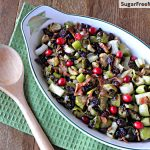 Roasted Brussels Sprouts with Leeks, Bacon & Cranberries