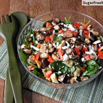 Roasted Eggplant Apple Spinach Salad