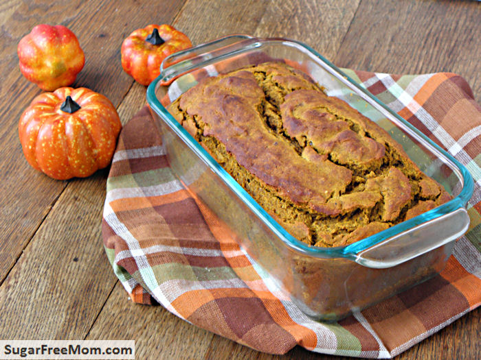 Gluten Free Pumpkin Banana Bread has no sugar added and is so low in ...
