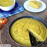 Skillet Pumpkin Cornbread {Gluten & Sugar-Free}