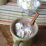 Homemade Sugar-Free Vanilla Cinnamon Hot Chocolate {Dairy Free Option}