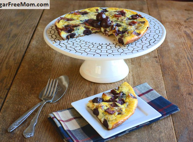 Sweet & Savory Low Carb Cherry Frittata