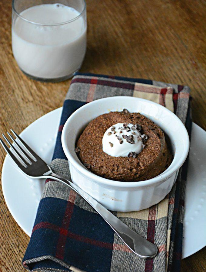 Single Serve Mint Chocolate Flax Muffin {Gluten & Sugar Free}