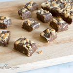 Sugar-Free Chocolate Peanut Butter Protein Fudge {Nut Free Option}