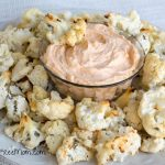 Oven Fried Ranch Cauliflower Bites with Dean's Buffalo Ranch Dip
