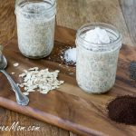 Coffee Coconut Refrigerator Chia Oats {Dairy, Gluten & Sugar Free}