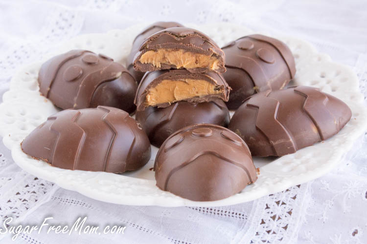 Sugar free chocolate peanut butter easter eggs dairy free negle Images