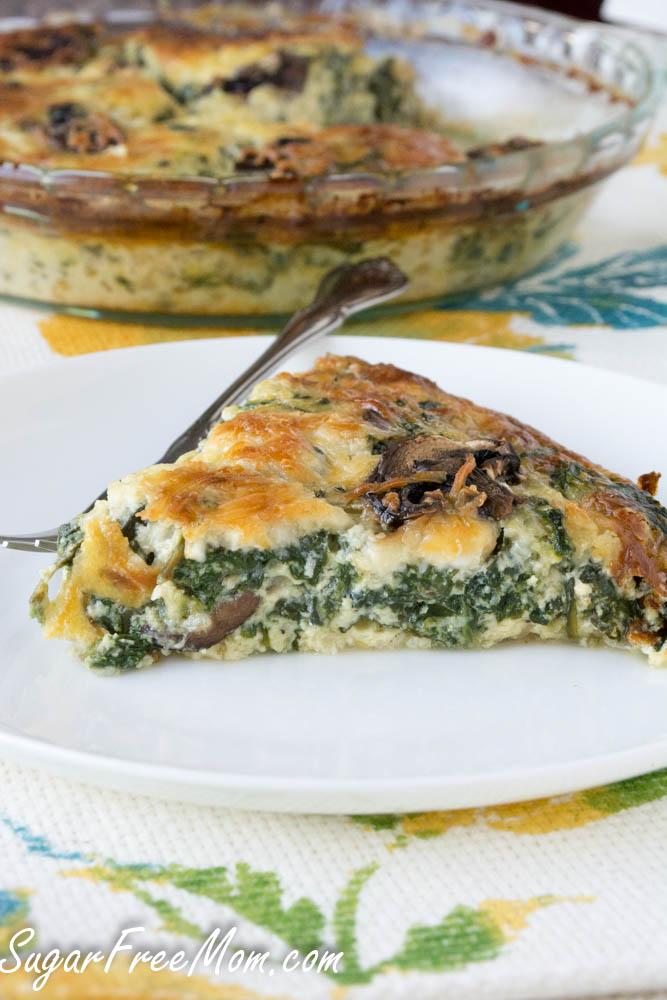 Keto Crustless Mushroom Spinach Pie