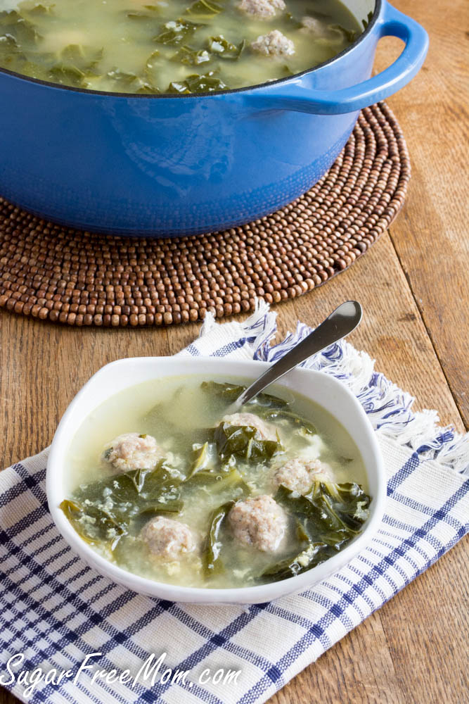 Version of italian wedding soup the traditional flavors of this soup