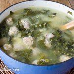 Lightened Up Italian Wedding Soup with Quinoa