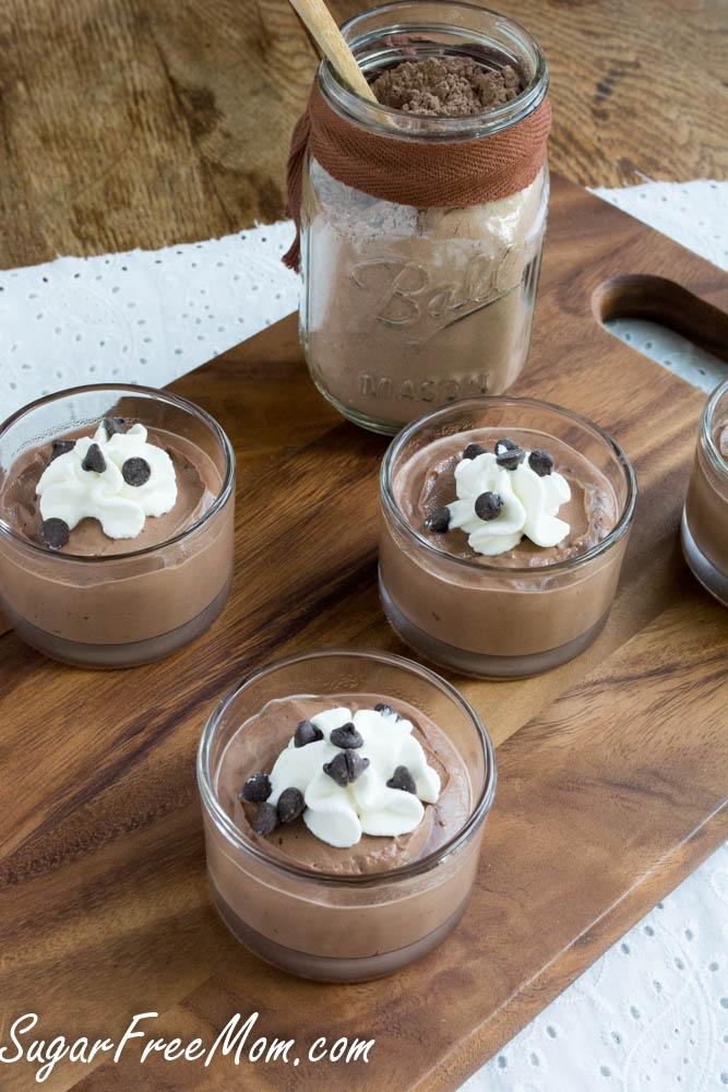 Instant Homemade Sugar Free Chocolate Pudding Mix