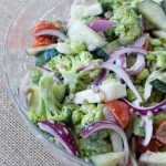 Sugar-Free Mayo Free Broccoli Salad