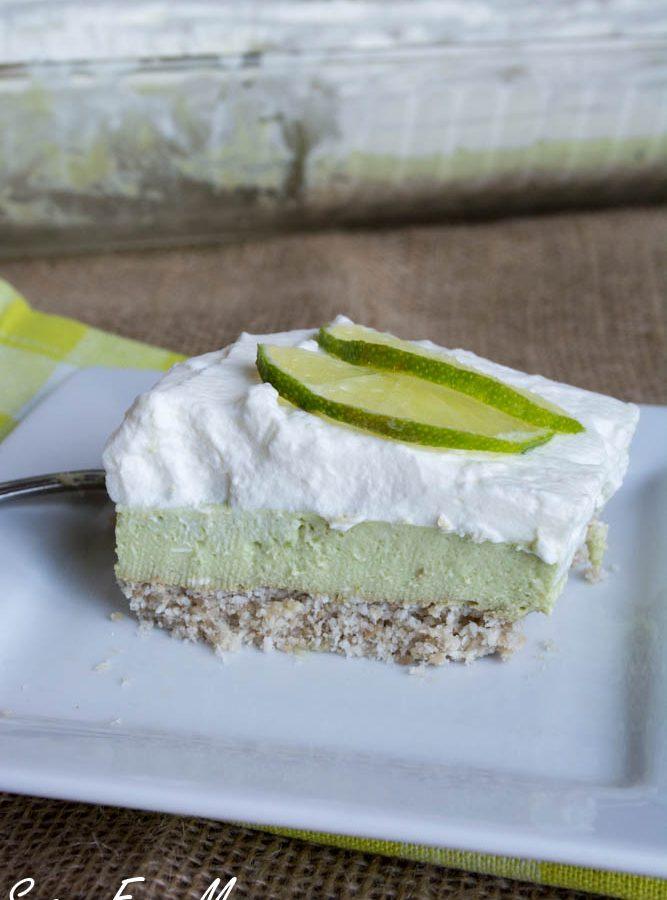 Sugar-Free No Bake Key Lime Pie Bars (Keto, Nut Free)