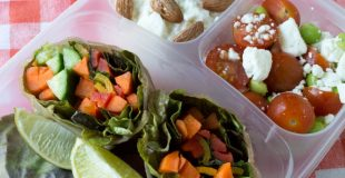 Healthy Lunchbox Recipes: Vegetable Spring Rolls with Lightened Up Peanut Sauce
