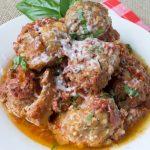 Crock Pot Cheese Stuffed Turkey Meatballs