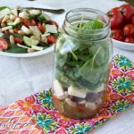Mason Jar Tuscan Bean Spinach Salad