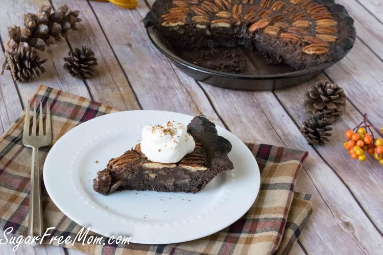Low Sugar Carb Chocolate Pecan Pie