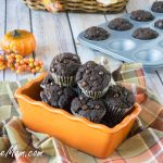 Mini Sugar-Free Chocolate Pumpkin Cupcakes