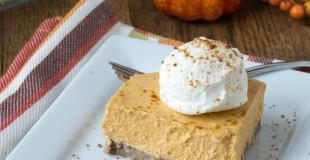 No Bake Sugar-Free Pumpkin Cheesecake