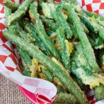 Oven Fried Garlic Parmesan Green Beans